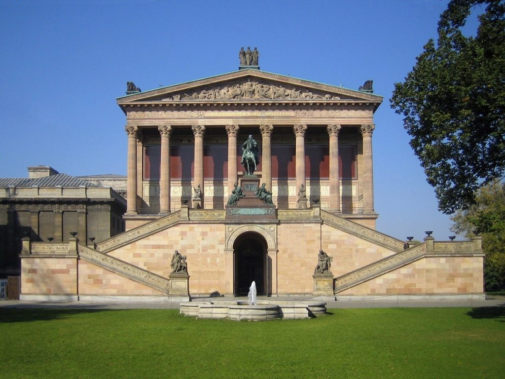 national gallery, building, antique