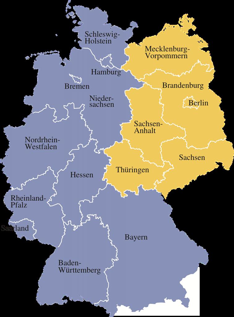 map, germany, regions
