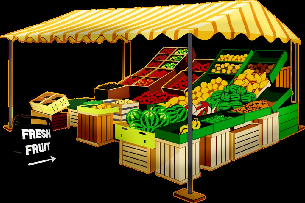 fruit seller, fruit stand, vendor