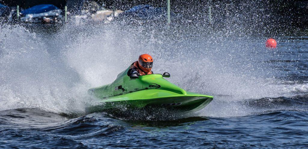 racing boat, water sports, motor boat race