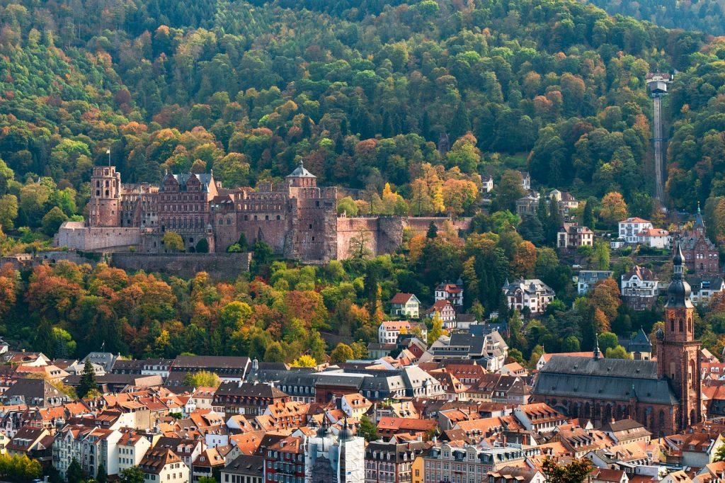heidelberg, castle, historic center