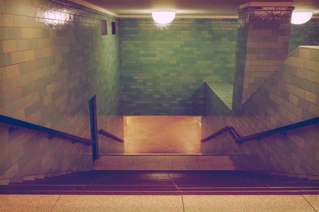 metro, subway station, berlin