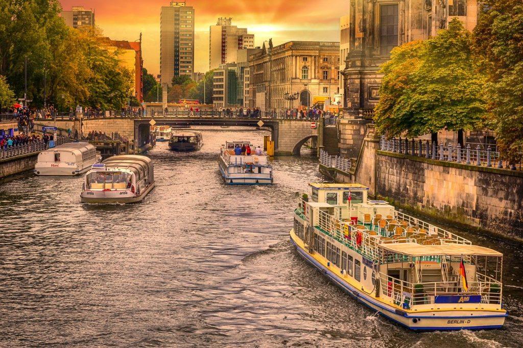 berlin, spree, landscape