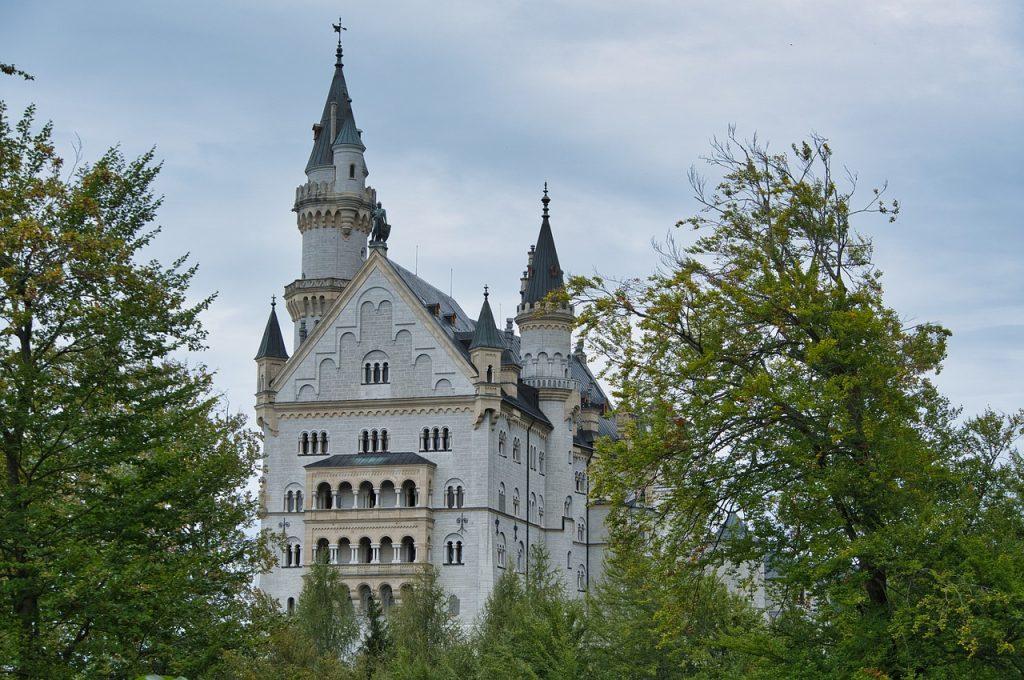 castle, palace, building
