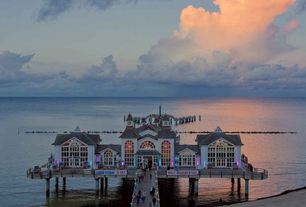 sea, pier, resort
