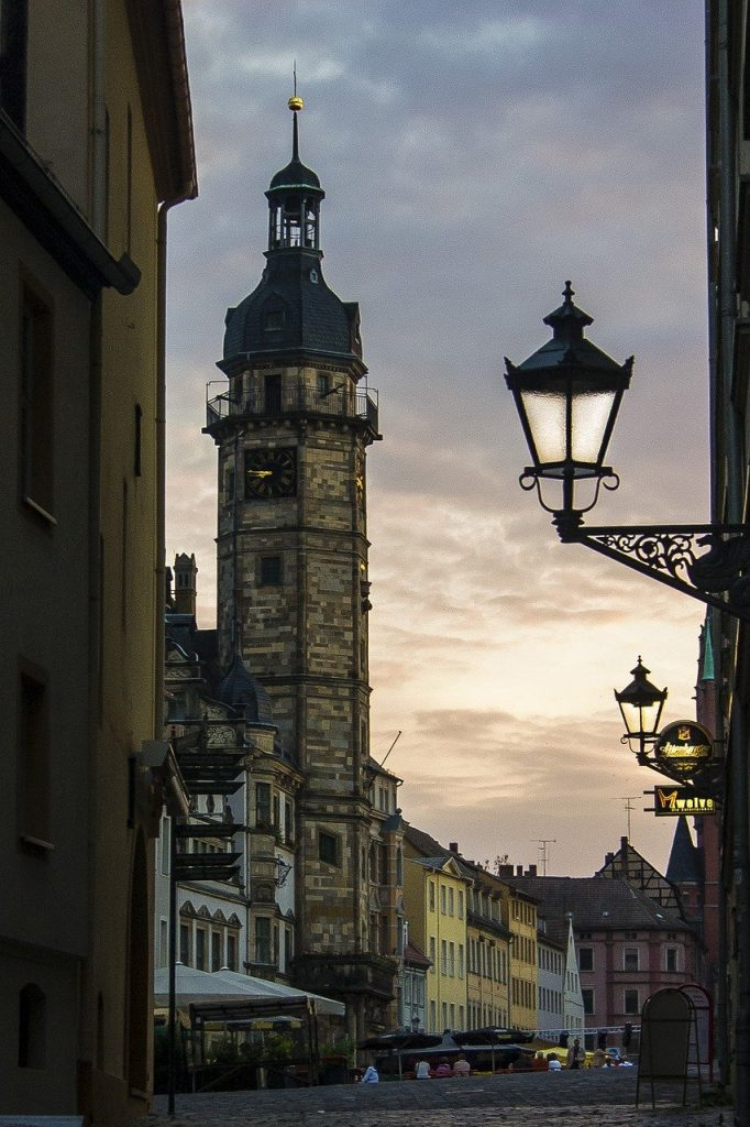 thuringia germany, street, tower
