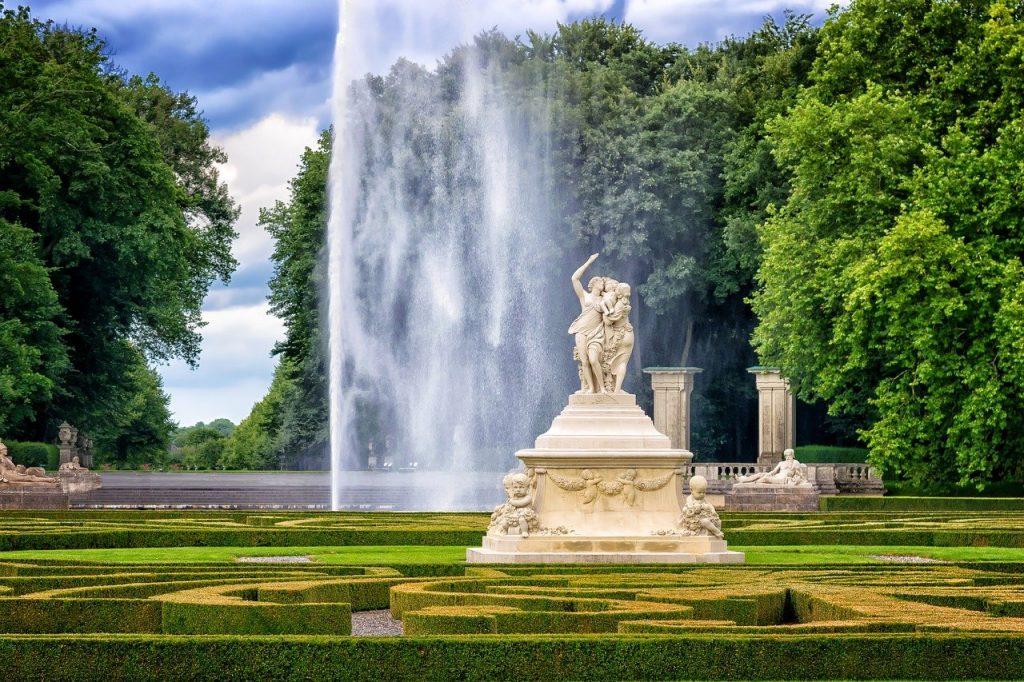 park, castle, sculpture