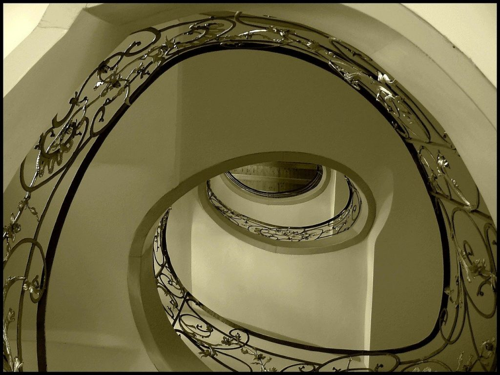 stairs, architecture, spiral staircase