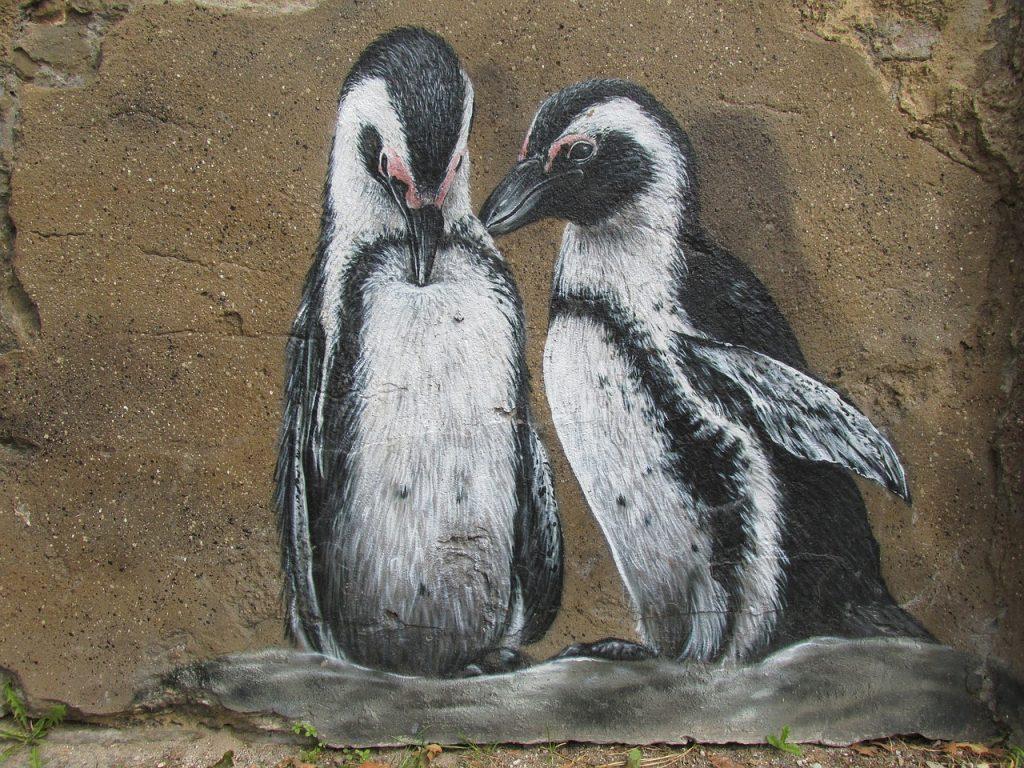 penguins, wall art, wall