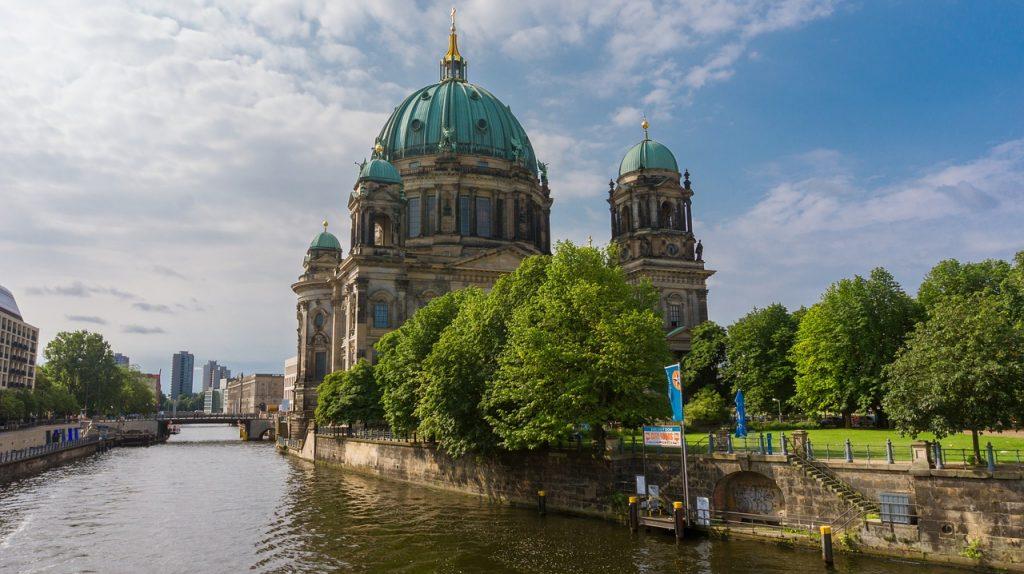 architecture, river, church