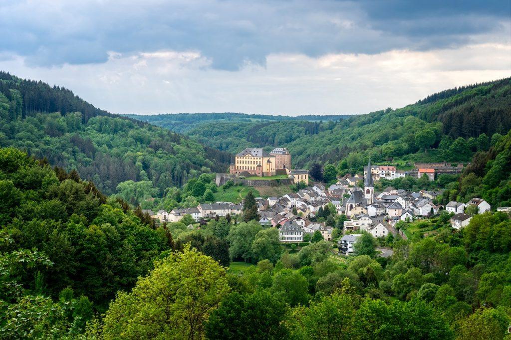 castle, landscape, nature