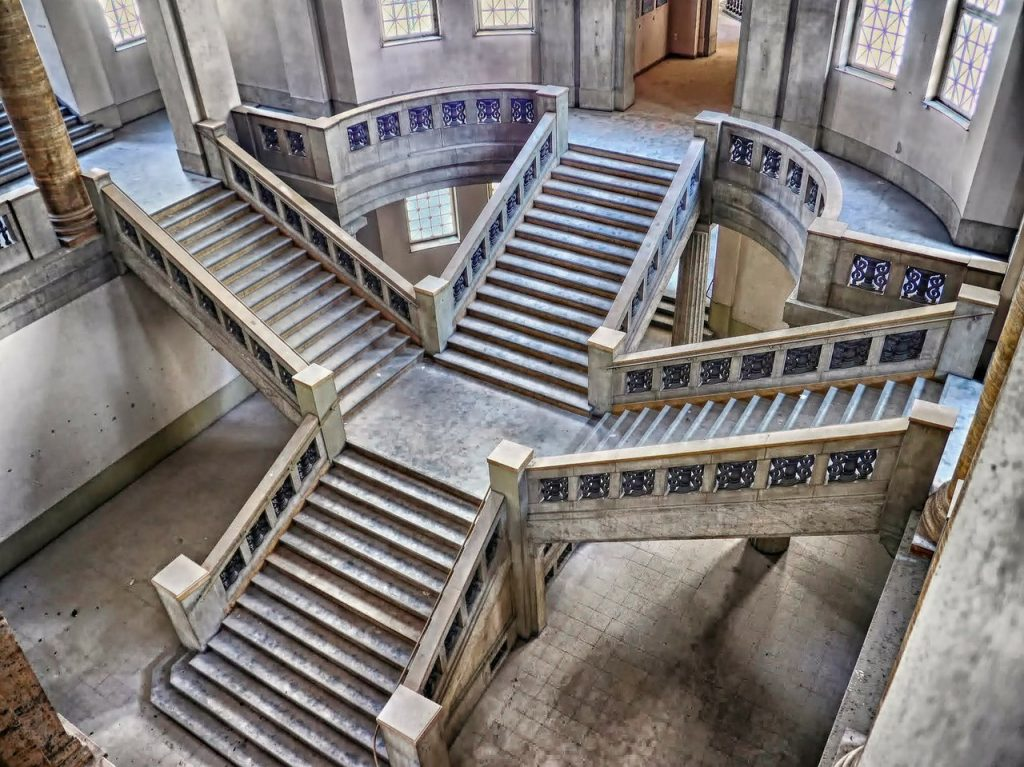 stairway, stairs, buildings