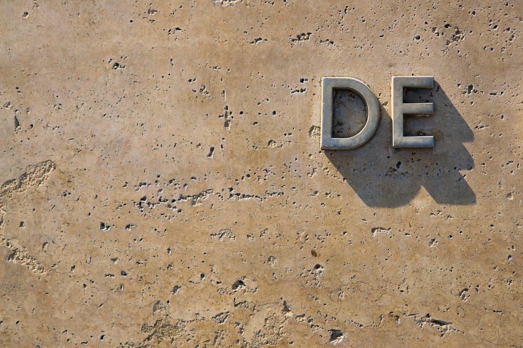 wall, de, letter