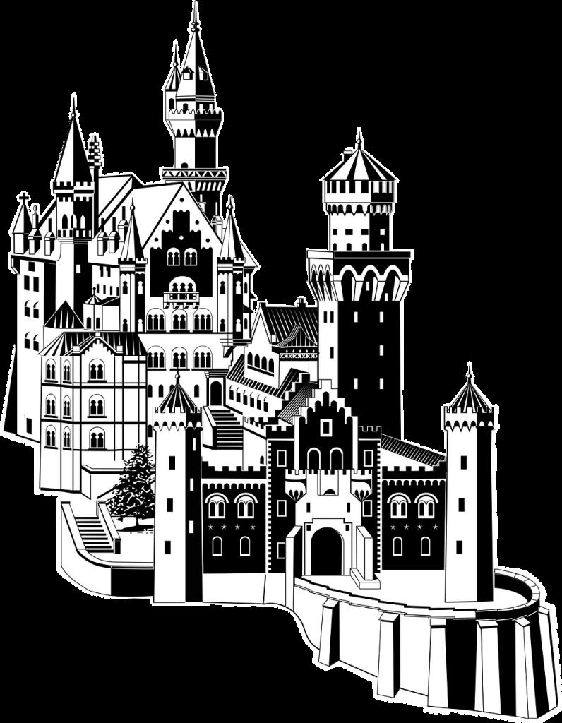 art deco, bavaria, black and white