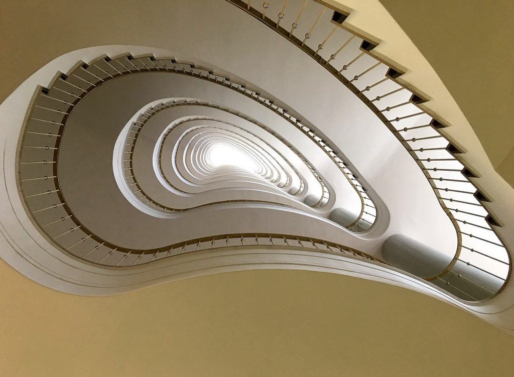 staircase, berlin, architecture