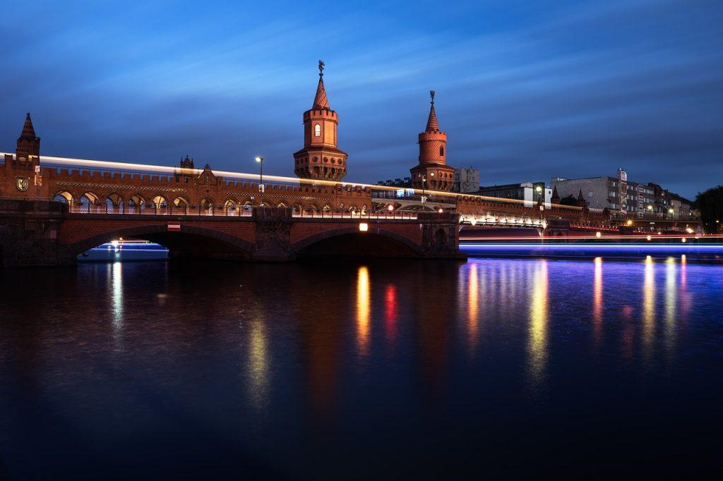 berlin, germany, oberbaum bridge