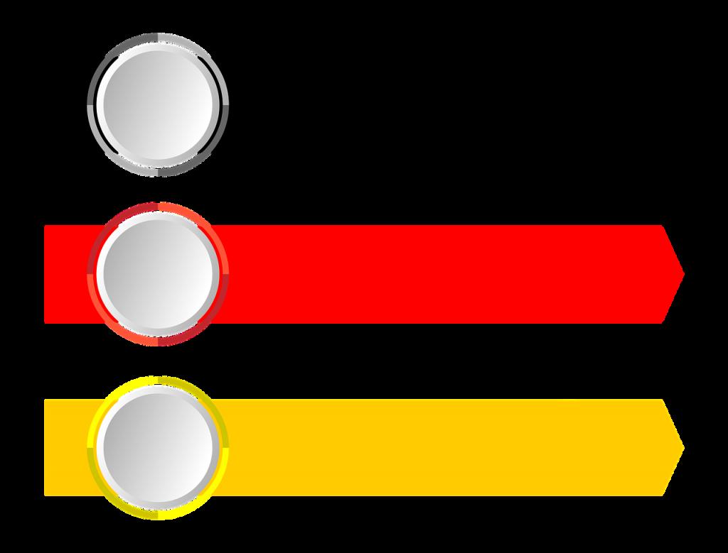 arrows, banner, transparent background