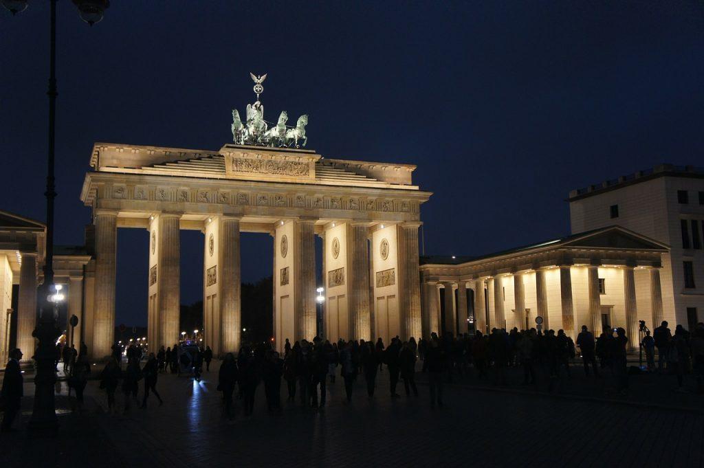 berlin, brandenburg gate, night